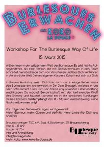 PK Koko Back Burlesque Basics 15.3.15 Braunschweig info@manege5.de
